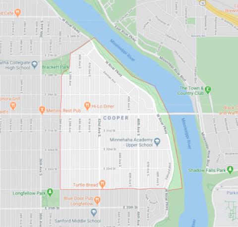 Cooper Neighborhood Map