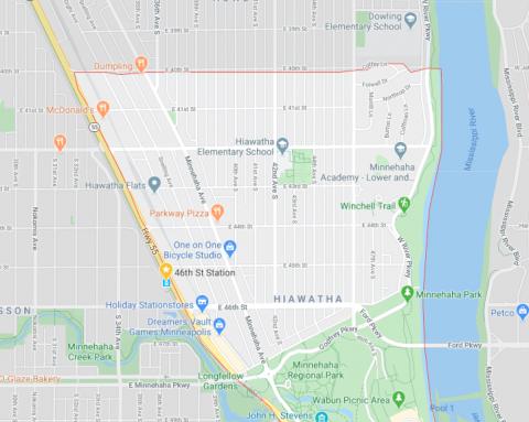 Hiawatha Neighborhood Map