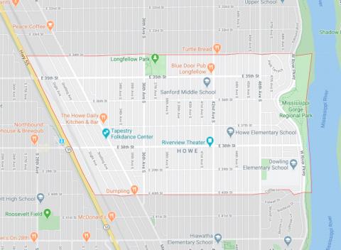 Howe Neighborhood Map