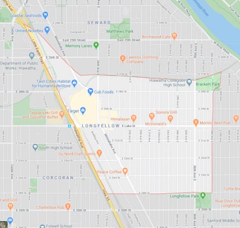 Longfellow Neighborhood Map